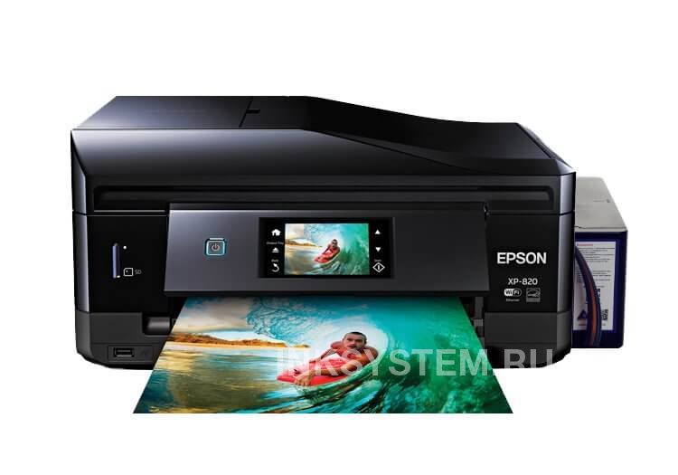 МФУ Epson Expression Premium XP-820 Refurbished by Epson с СНПЧ и чернилами