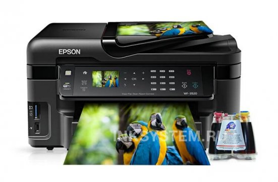 фото МФУ Epson Workforce WF-3520DWF с СНПЧ (США)