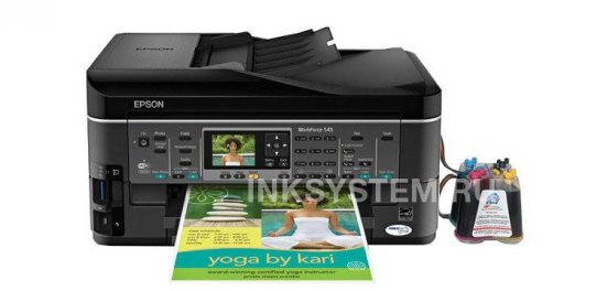 фото МФУ Epson WorkForce 545 Refurbished с СНПЧ