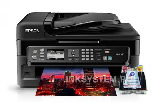 фото МФУ Epson WorkForce WF-2540WF Refurbished с СНПЧ