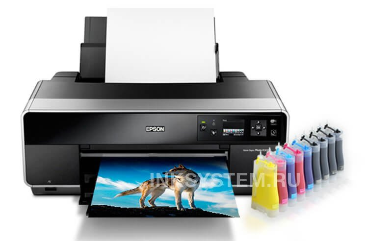 Принтер Epson Stylus Photo R3000 Refurbished by Epson с СНПЧ и чернилами