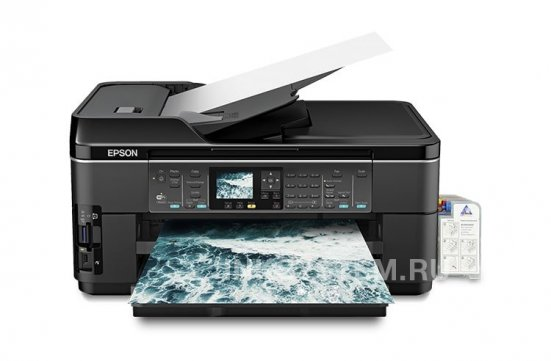 фото МФУ Epson WorkForce WF-7510 Refurbished с СНПЧ