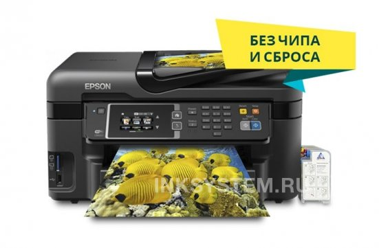 фото МФУ Epson Workforce WF-3620 с СНПЧ